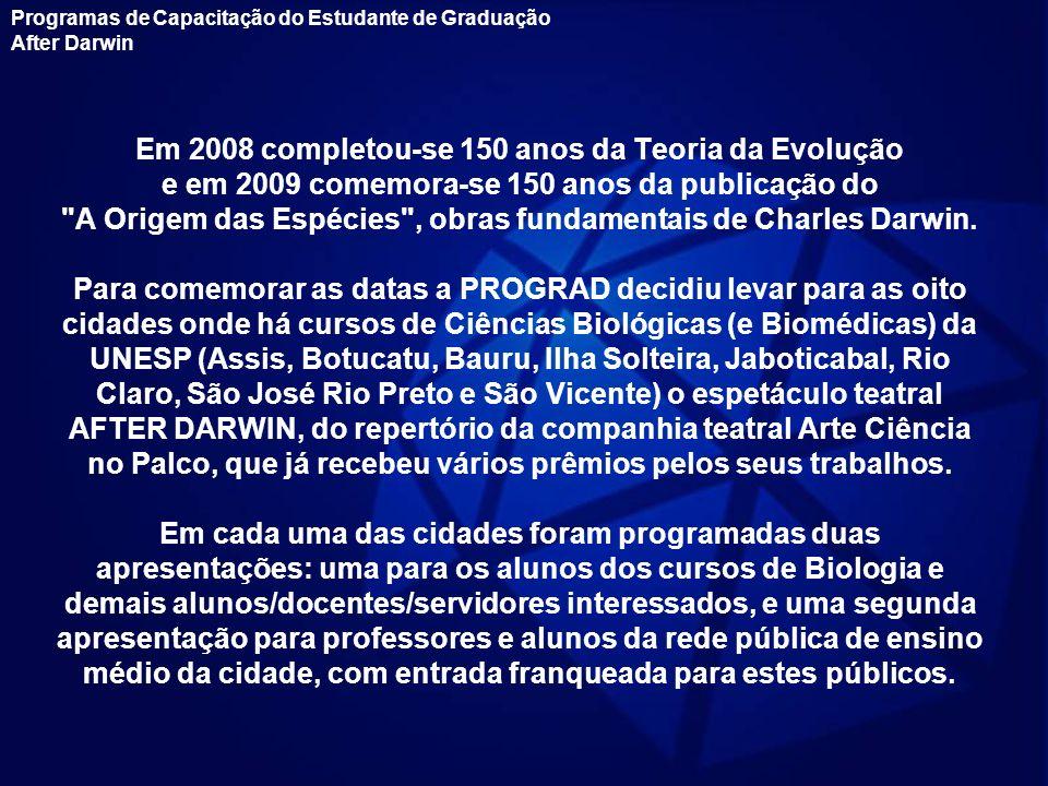 Em 2008 completou-se 150 anos da Teoria da Evolução e em 2009 comemora-se 150 anos da publicação do