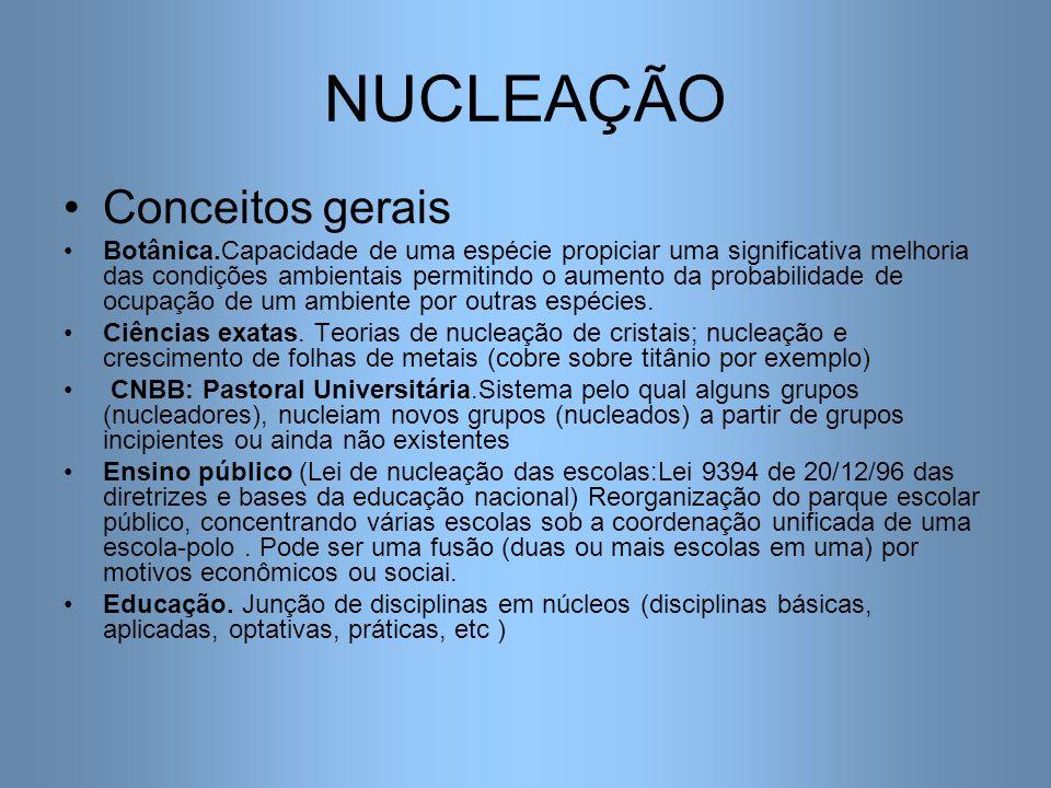 Nucleação Na pós-graduação Várias formas A) Docente de reconhecida competência ou capacidade de persuasão convence um ou mais estudantes que realizam a pós-graduação sob sua orientação.