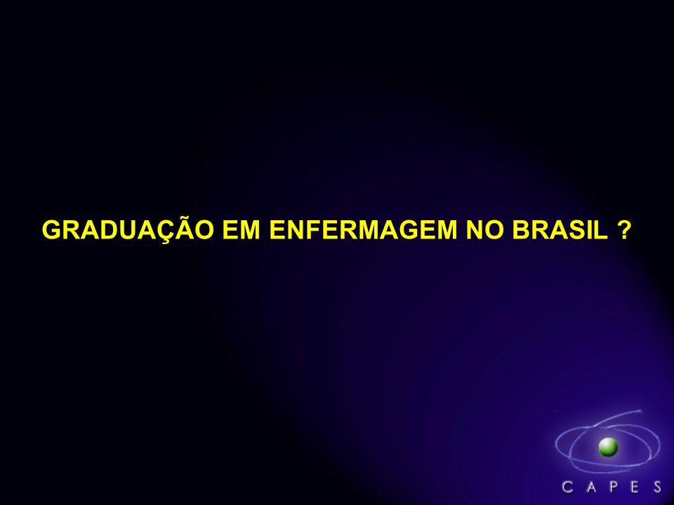 GRADUAÇÃO EM ENFERMAGEM NO BRASIL ?