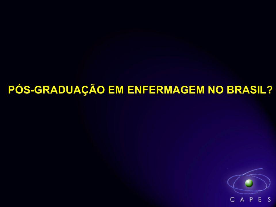 PÓS-GRADUAÇÃO EM ENFERMAGEM NO BRASIL?