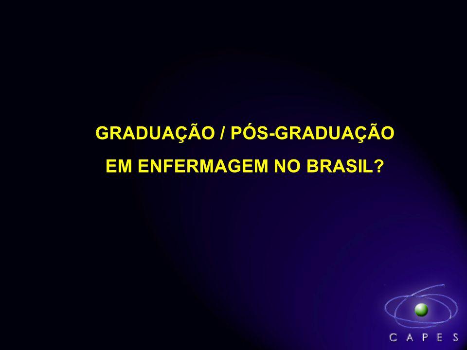 GRADUAÇÃO / PÓS-GRADUAÇÃO EM ENFERMAGEM NO BRASIL?