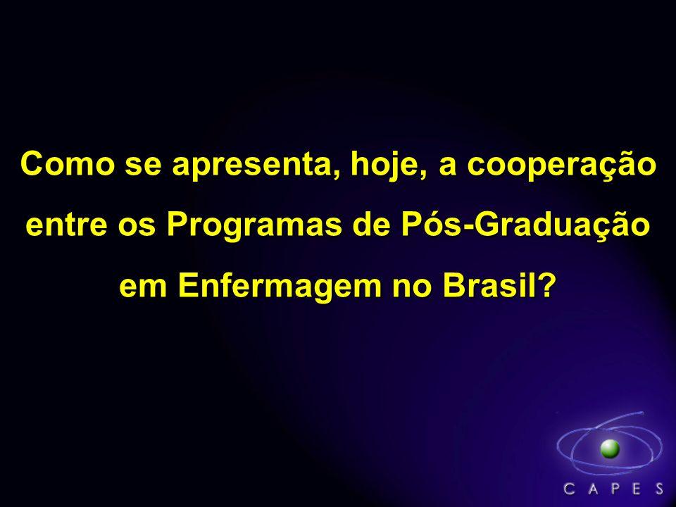 Como se apresenta, hoje, a cooperação entre os Programas de Pós-Graduação em Enfermagem no Brasil?