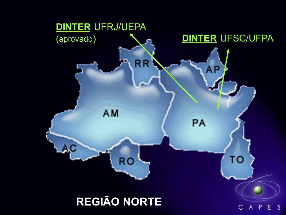 DINTER UFSC/UFPA REGIÃO NORTE DINTER UFRJ/UEPA ( aprovado )