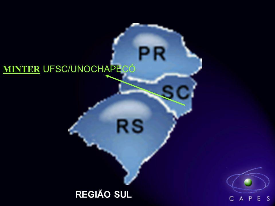 REGIÃO SUL MINTER UFSC/UNOCHAPECÓ