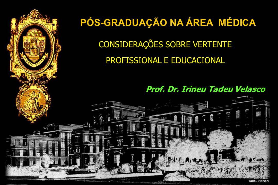 CONSIDERAÇÕES SOBRE VERTENTE PROFISSIONAL E EDUCACIONAL CONSIDERAÇÕES SOBRE VERTENTE PROFISSIONAL E EDUCACIONAL Prof. Dr. Irineu Tadeu Velasco PÓS-GRA