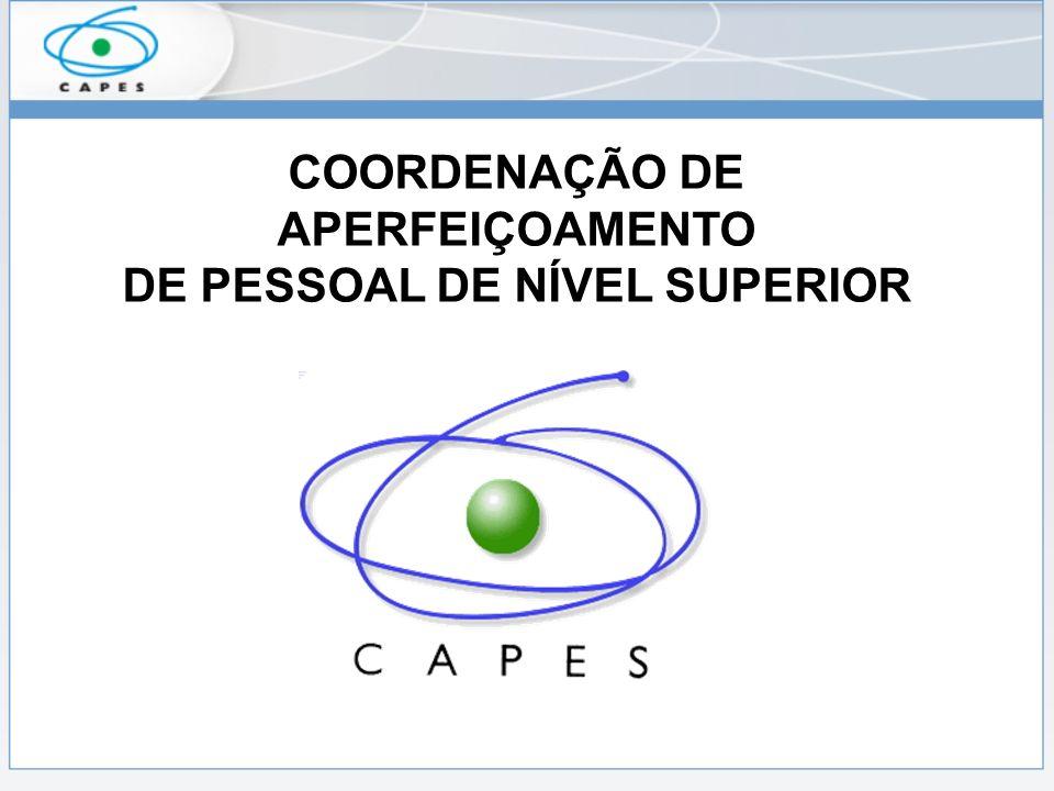 COORDENAÇÃO DE APERFEIÇOAMENTO DE PESSOAL DE NÍVEL SUPERIOR