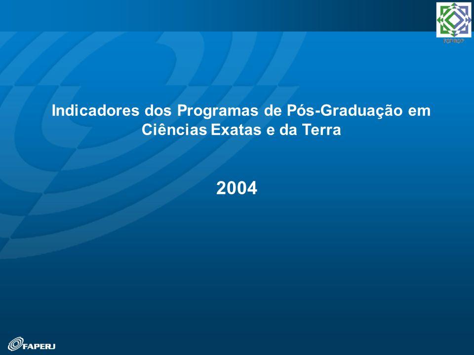 2004 Indicadores dos Programas de Pós-Graduação em Ciências Exatas e da Terra