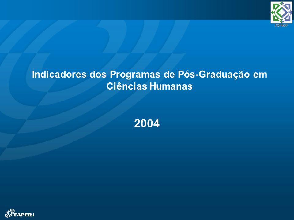 2004 Indicadores dos Programas de Pós-Graduação em Ciências Humanas