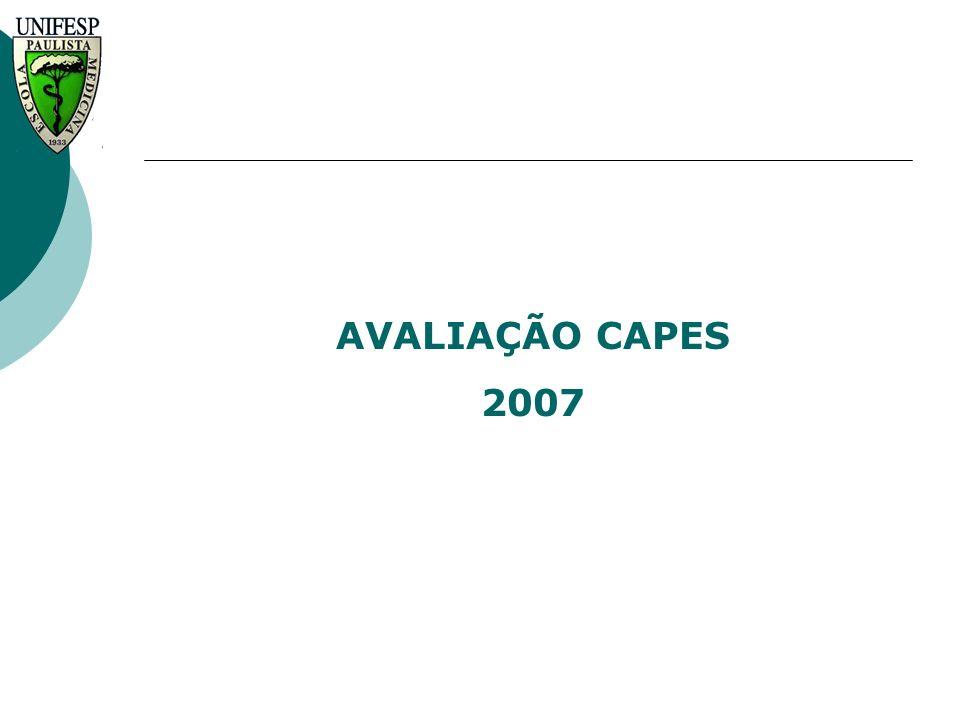 AVALIAÇÃO CAPES 2007 Universidade Federal de São Paulo UNIFESP/EPM