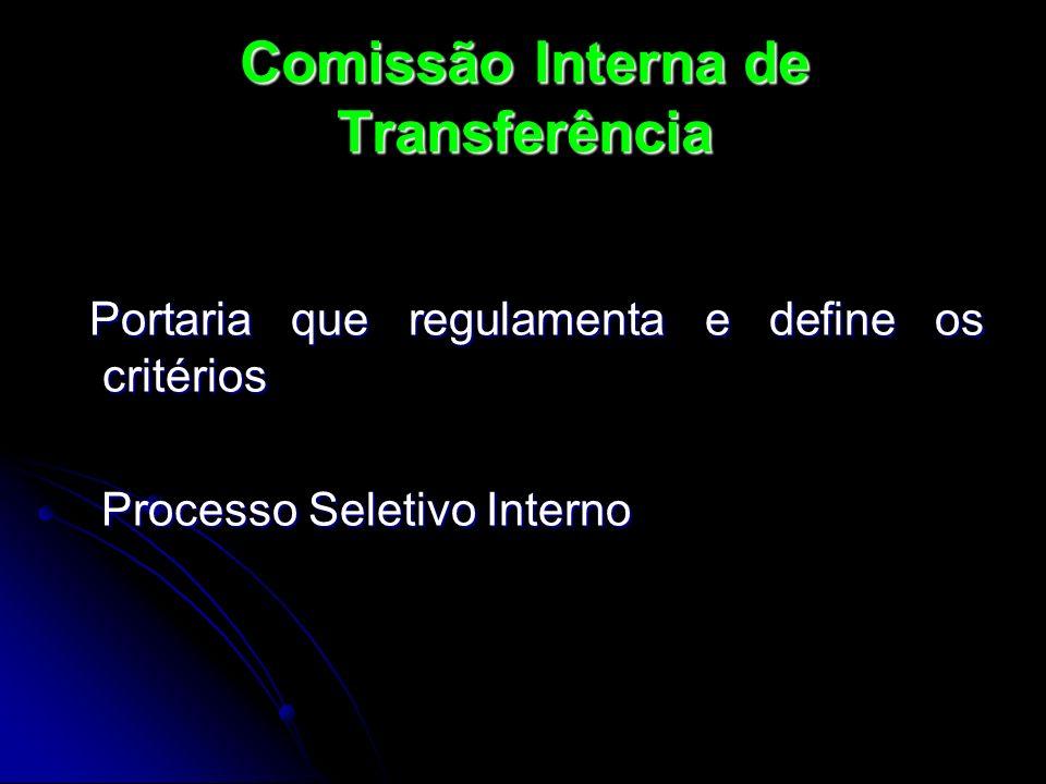 Portaria que regulamenta e define os critérios Portaria que regulamenta e define os critérios Processo Seletivo Interno Processo Seletivo Interno Comi