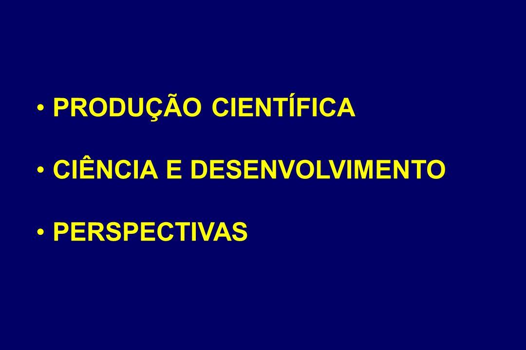 PRODUÇÃO CIENTÍFICA CIÊNCIA E DESENVOLVIMENTO PERSPECTIVAS