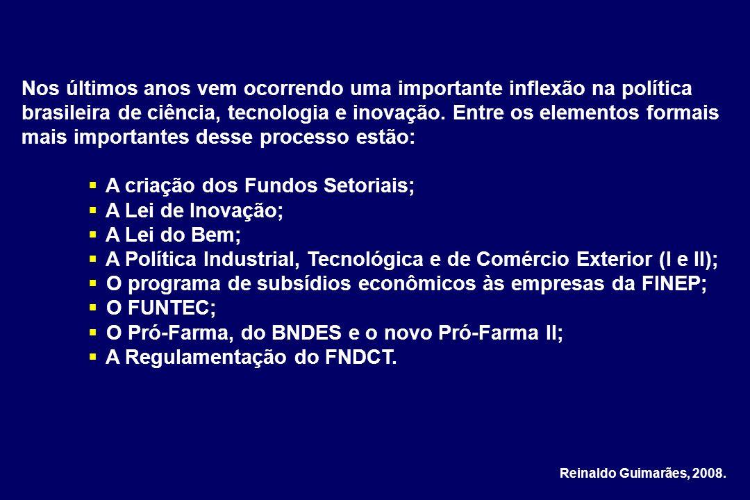 Nos últimos anos vem ocorrendo uma importante inflexão na política brasileira de ciência, tecnologia e inovação. Entre os elementos formais mais impor