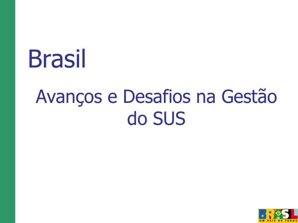 Avanços e Desafios na Gestão do SUS Brasil