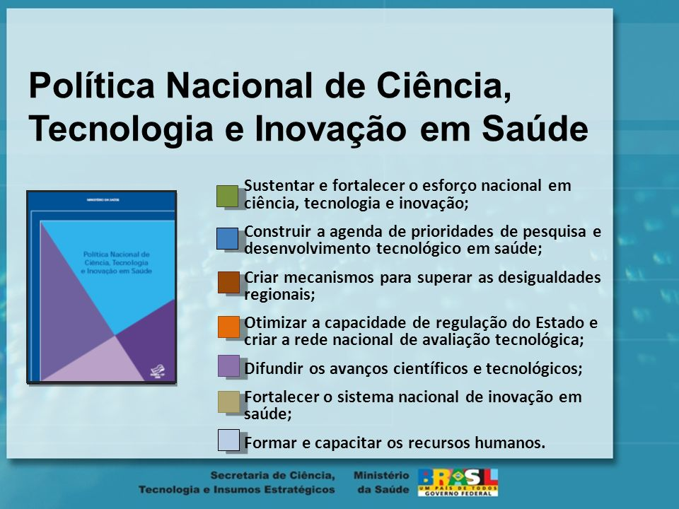 Marcos na Gestão Assinatura do Termo de Cooperação e Assistência Técnica entre o Ministério da Saúde e o Ministério da Ciência e Tecnologia 2007 - 201