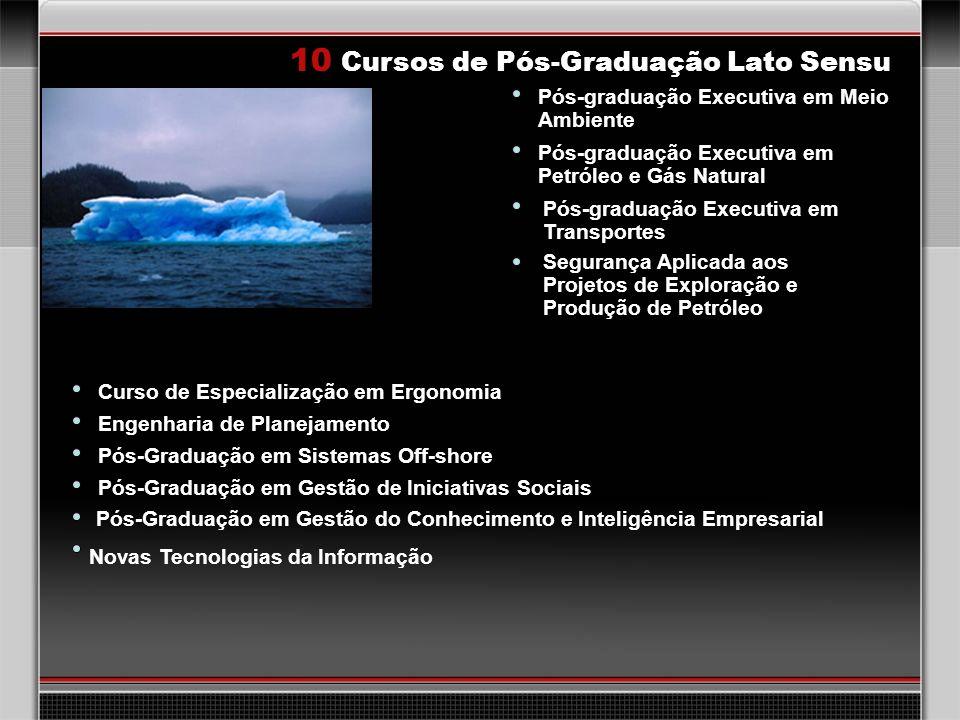 28 10 Cursos de Pós-Graduação Lato Sensu Pós-graduação Executiva em Meio Ambiente Pós-graduação Executiva em Transportes Pós-graduação Executiva em Pe