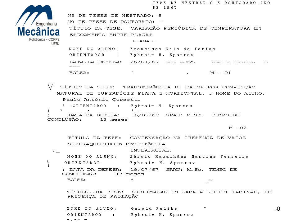 40 4. DEPARTAMENTO/PROGRAMA DE ENGENHARIA MECÂNICA
