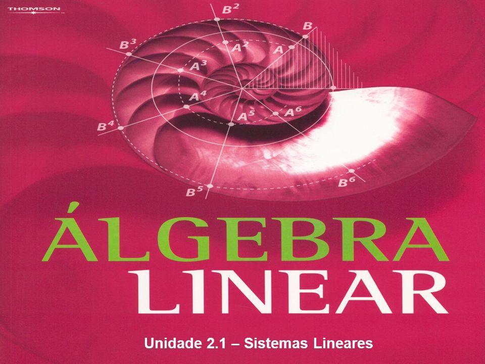 Discussão de um sistema linear Se um sistema linear tem n equações e n incógnitas, ele pode ser: a)SPD b)SPI c)SI