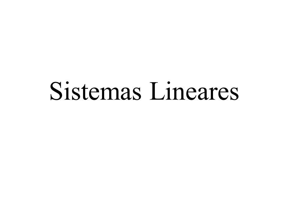 Discussão de um sistema linear a) possível e determinado, se D = det A 0; caso em que a solução é única.
