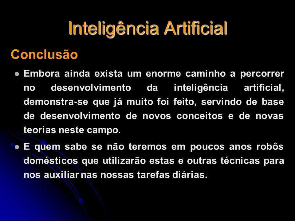 Inteligência Artificial Conclusão Embora ainda exista um enorme caminho a percorrer no desenvolvimento da inteligência artificial, demonstra-se que já