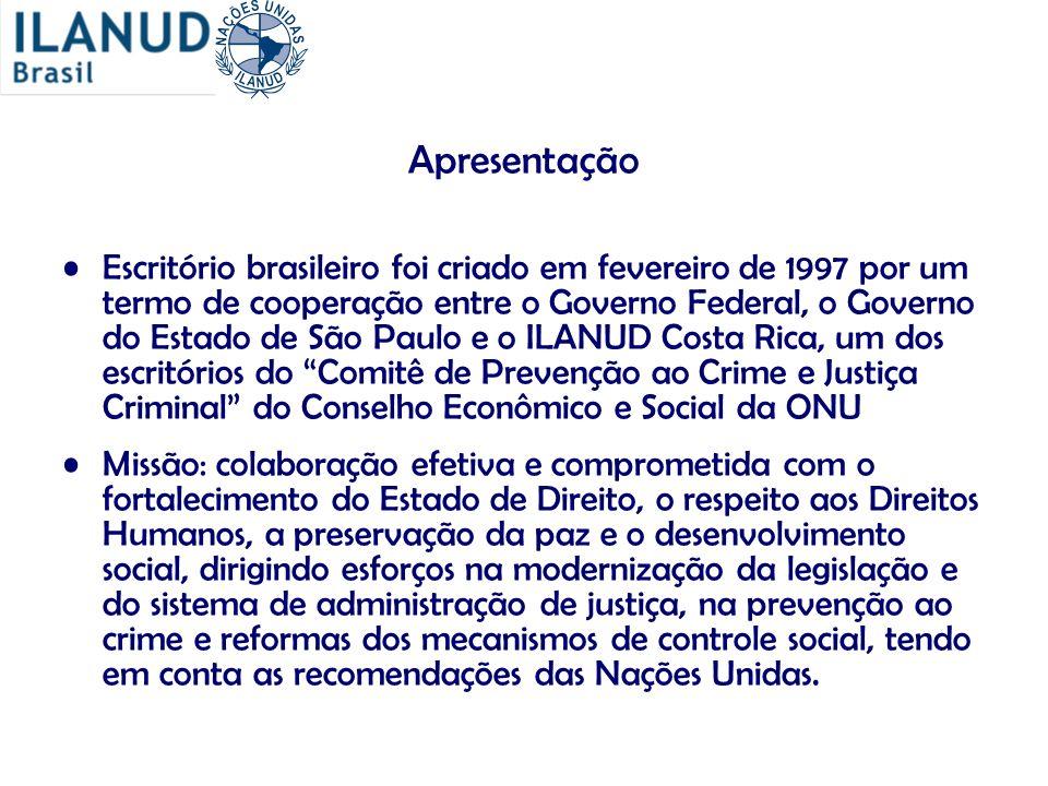 Apresentação Escritório brasileiro foi criado em fevereiro de 1997 por um termo de cooperação entre o Governo Federal, o Governo do Estado de São Paul
