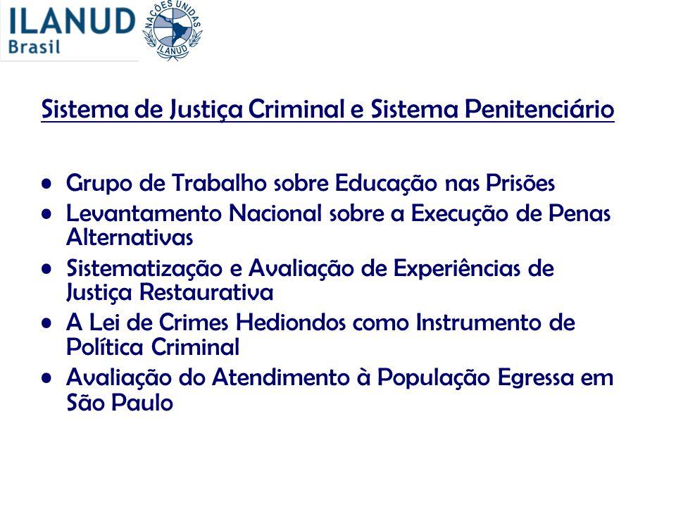 Sistema de Justiça Criminal e Sistema Penitenciário Grupo de Trabalho sobre Educação nas Prisões Levantamento Nacional sobre a Execução de Penas Alter