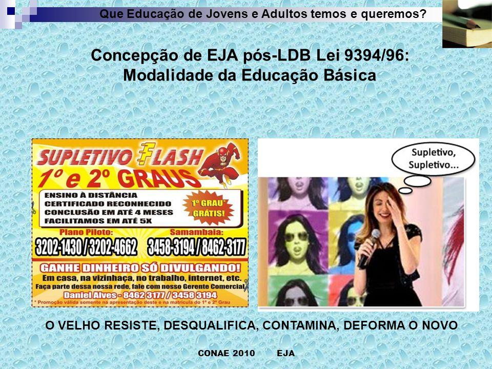CONAE 2010 EJA Que Educação de Jovens e Adultos temos e queremos?