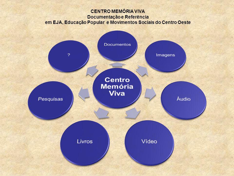 CENTRO MEMÓRIA VIVA Documentação e Referência em EJA, Educação Popular e Movimentos Sociais do Centro Oeste
