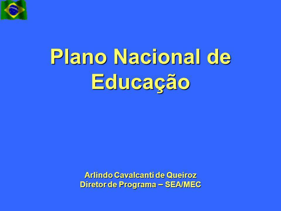 Plano Nacional de Educação Arlindo Cavalcanti de Queiroz Diretor de Programa – SEA/MEC