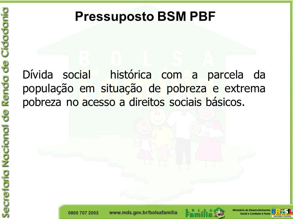 2 Dívida social histórica com a parcela da população em situação de pobreza e extrema pobreza no acesso a direitos sociais básicos. Pressuposto BSM PB
