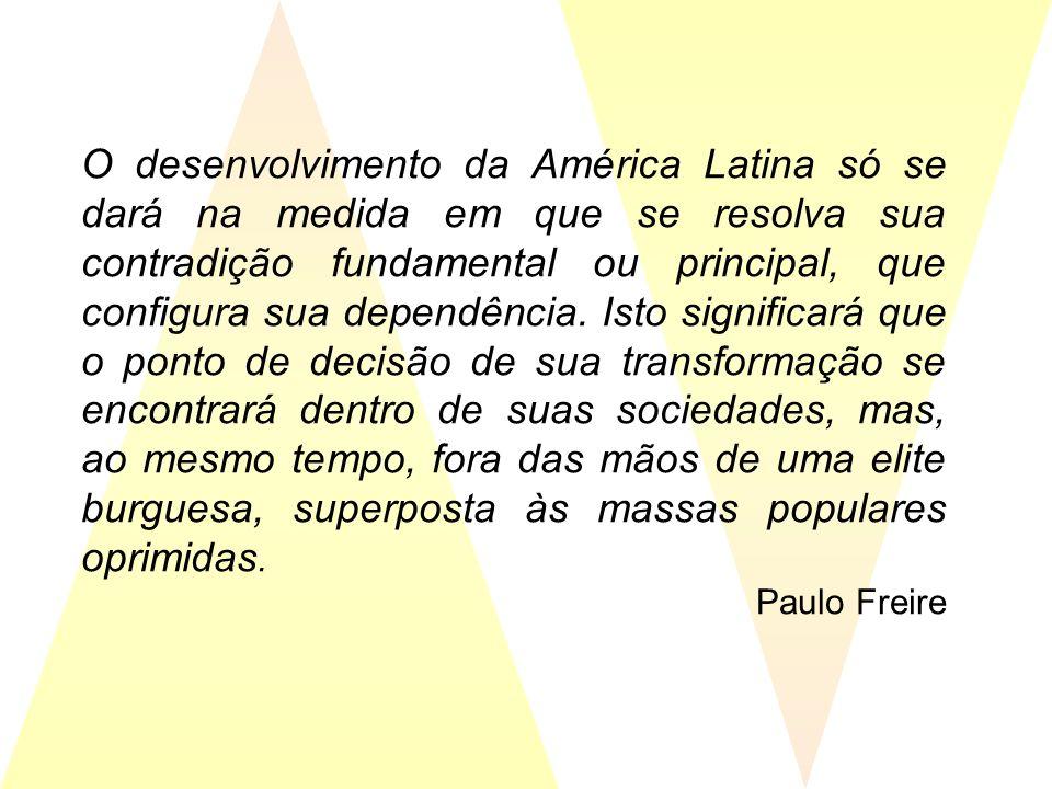 O desenvolvimento da América Latina só se dará na medida em que se resolva sua contradição fundamental ou principal, que configura sua dependência. Is