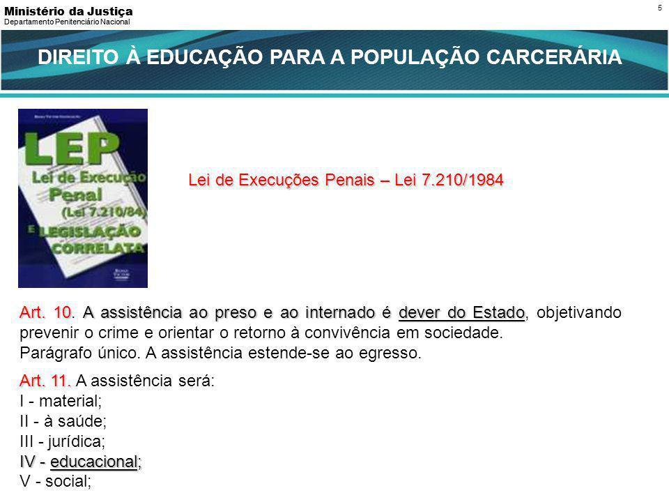 PERFIL DA POPULAÇÃO CARCERÁRIA BRASILEIRA 71% Tem menos de 35 anos de idade, no auge de sua produtividade.