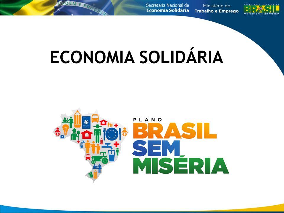 Secretaria Nacional de Economia Solidária ECONOMIA SOLIDÁRIA