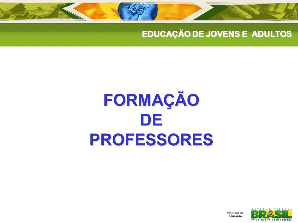 EDUCAÇÃO DE JOVENS E ADULTOS FORMAÇÃODEPROFESSORES
