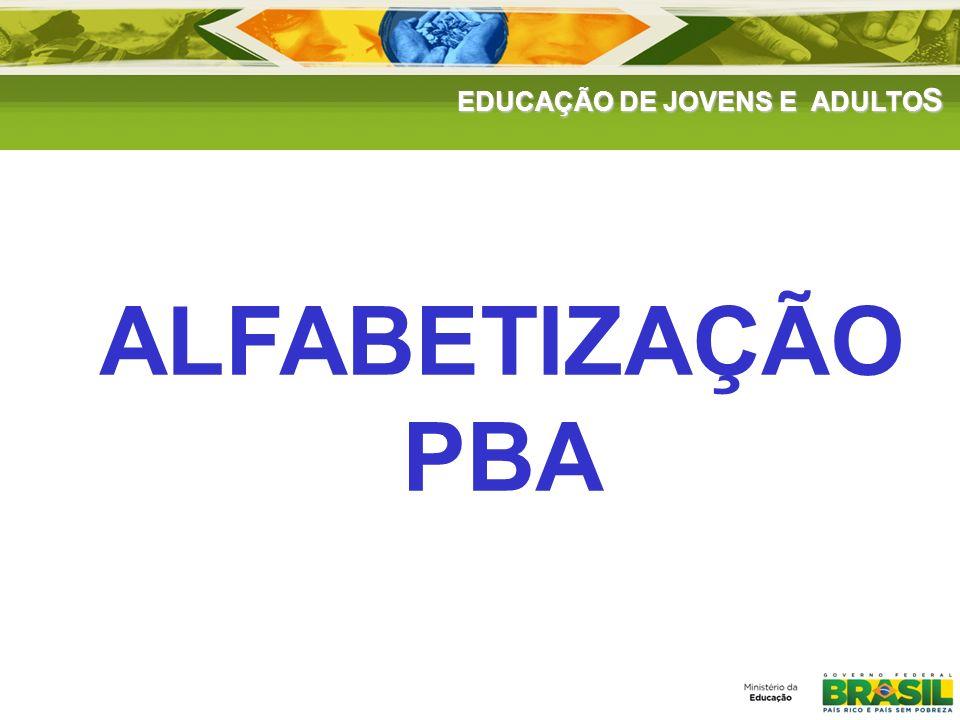 EDUCAÇÃO DE JOVENS E ADULTOS DADOS GERAIS DE ATENDIMENTO CicloAdesãoAtendimentoReinscritos Situação final Não alfabetiza do Alfabetizado e não matriculado na EJA Alfabetizado e matriculado na EJA Total 20081.115 1.322.765 ____274.32 (46%) 286.223 (48%) 35.904 (6%) 596.450 (45%) 20091.469 1.872.807 153.008 (8%) 439.452 (51%) 357.687 (42%) 57.859 (7%) 854.998 (46%) 20101.4431.551.295 260.321 (17%) 145.888 (48%) 128.173 (42%) 28.694 (10%) 302.755 (20%)