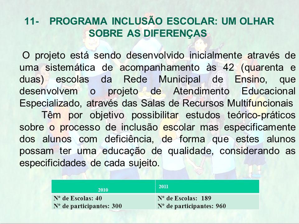 O projeto está sendo desenvolvido inicialmente através de uma sistemática de acompanhamento às 42 (quarenta e duas) escolas da Rede Municipal de Ensin