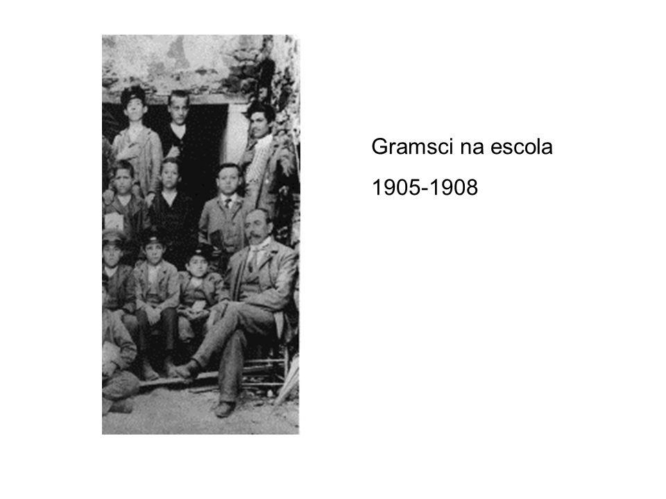 Gramsci com 15 anos, em 1906.