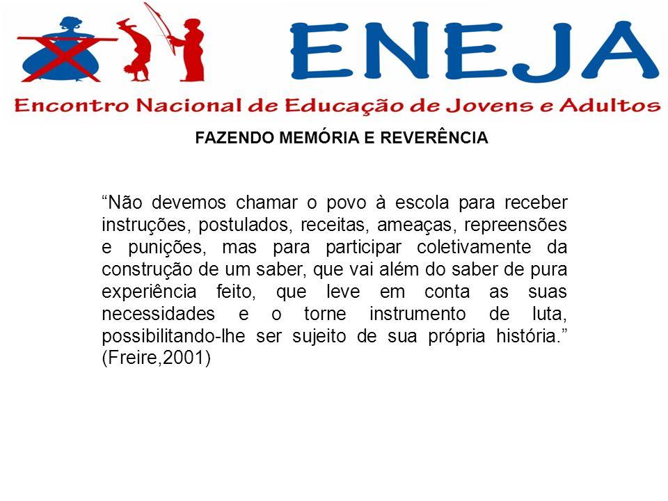 B) DESAFIOS DA EDUCAÇÃO DE JOVENS E ADULTOS NO BRASIL 2 - ESTRATÉGIAS POLÍTICO-DIDÁTICO-PEDAGÓGICAS PARA A EJA O VELHO RESISTE AO NOVO