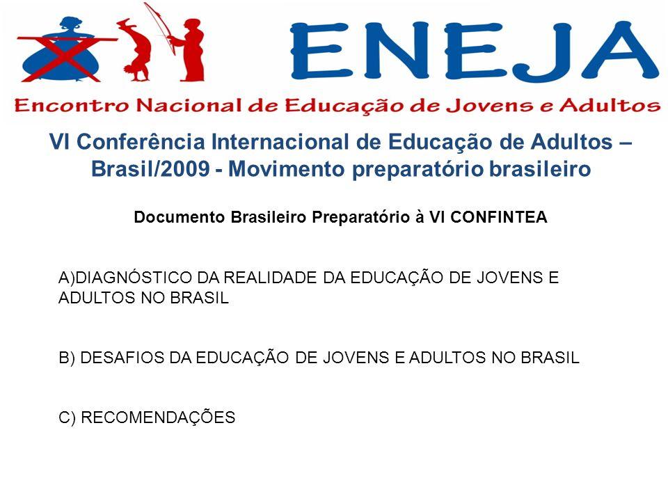 VI Conferência Internacional de Educação de Adultos – Brasil/2009 - Movimento preparatório brasileiro Documento Brasileiro Preparatório à VI CONFINTEA