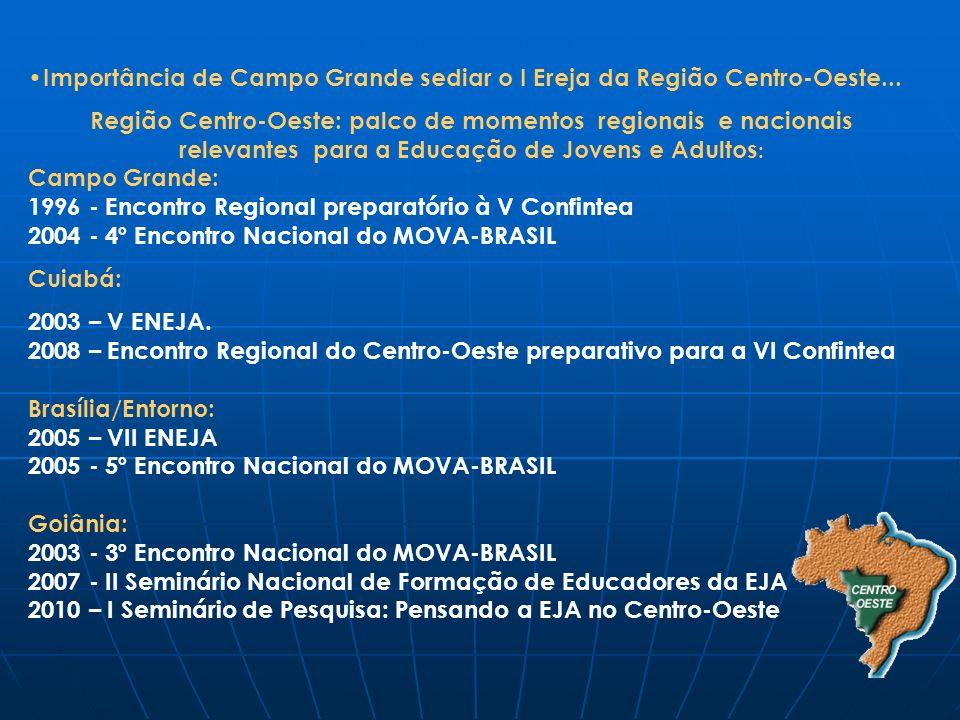 Importância de Campo Grande sediar o I Ereja da Região Centro-Oeste... Região Centro-Oeste: palco de momentos regionais e nacionais relevantes para a