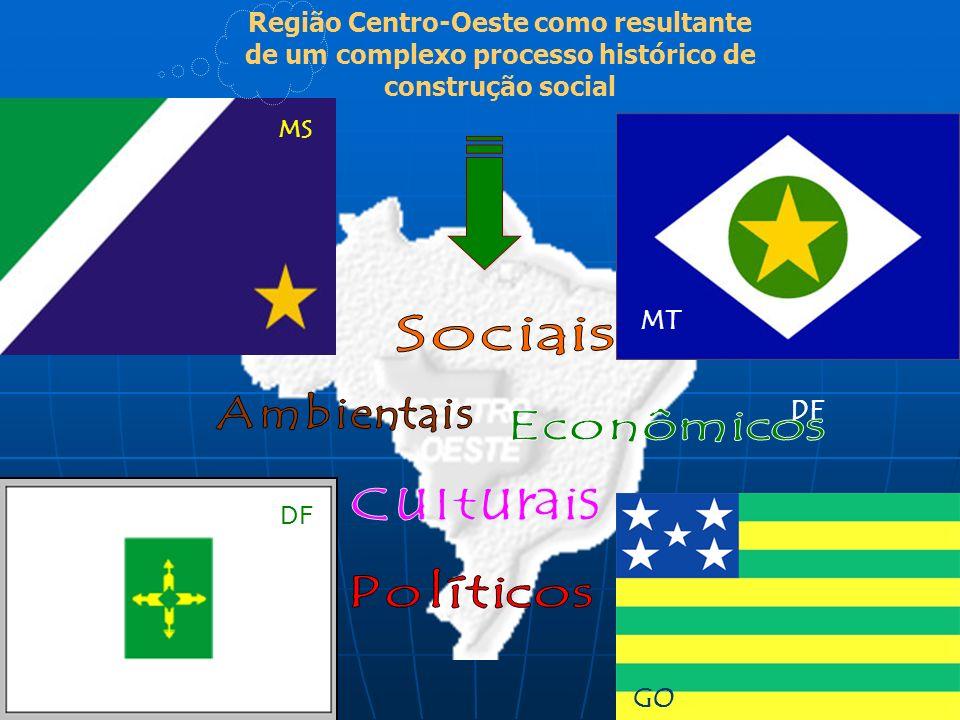 MT MS DF Região Centro-Oeste como resultante de um complexo processo histórico de construção social GO DF