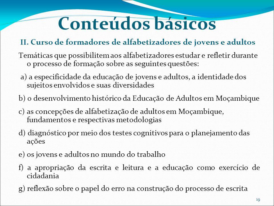 19 Conteúdos básicos II.