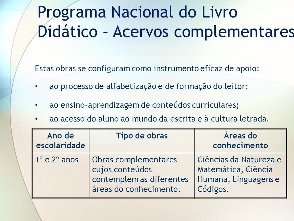 Estas obras se configuram como instrumento eficaz de apoio: ao processo de alfabetização e de formação do leitor; ao ensino-aprendizagem de conteúdos