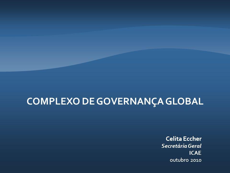 COMPLEXO DE GOVERNANÇA GLOBAL Celita Eccher Secretária Geral ICAE outubro 2010