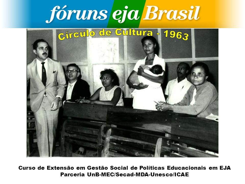 Curso de Extensão em Gestão Social de Políticas Educacionais em EJA Parceria UnB-MEC/Secad-MDA-Unesco/ICAE A conscientização não pode parar na etapa do desvelamento da realidade.