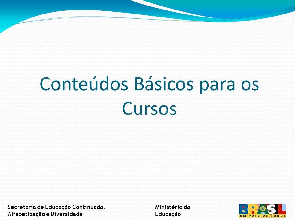 Conteúdos Básicos para os Cursos Secretaria de Educação Continuada, Alfabetização e Diversidade Ministério da Educação