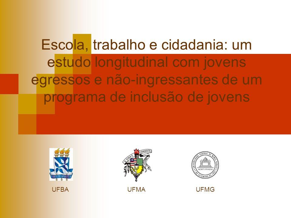 Escola, trabalho e cidadania: um estudo longitudinal com jovens egressos e não-ingressantes de um programa de inclusão de jovens UFBAUFMAUFMG