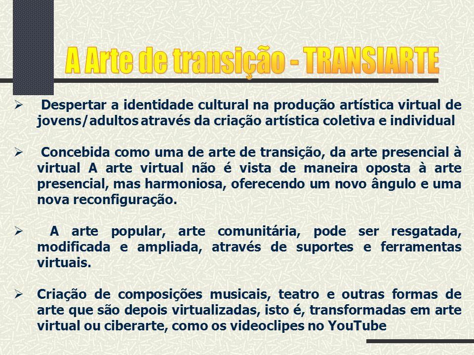 Despertar a identidade cultural na produção artística virtual de jovens/adultos através da criação artística coletiva e individual Concebida como uma
