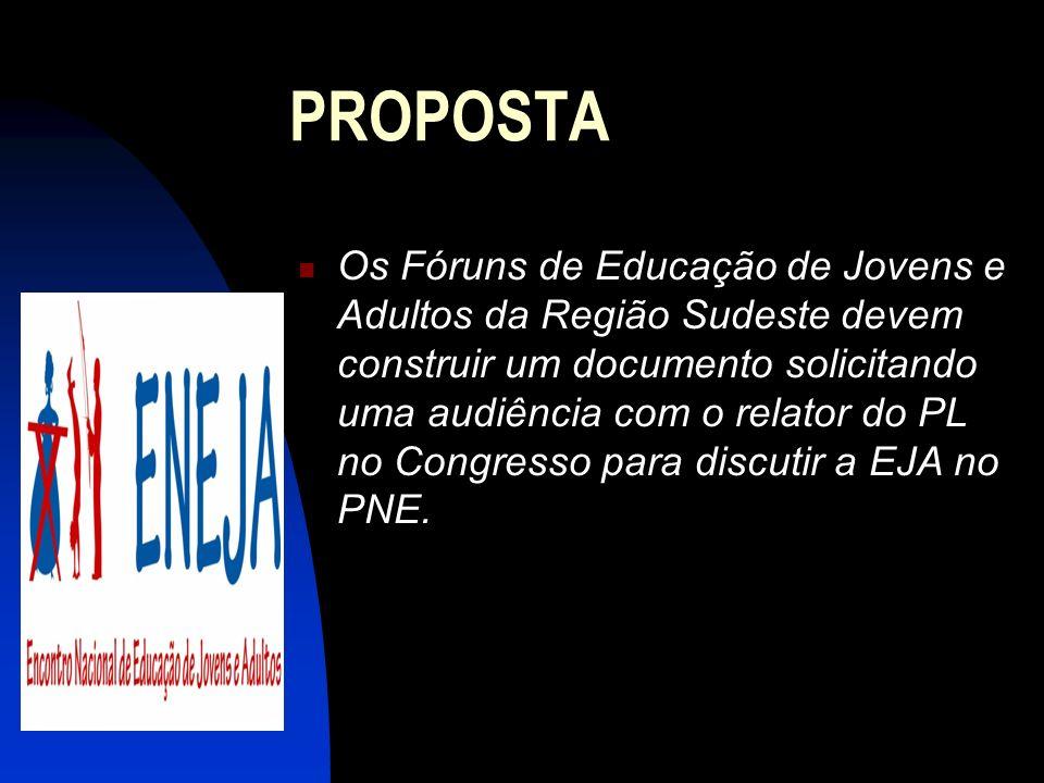 Os Fóruns de Educação de Jovens e Adultos da Região Sudeste devem construir um documento solicitando uma audiência com o relator do PL no Congresso pa