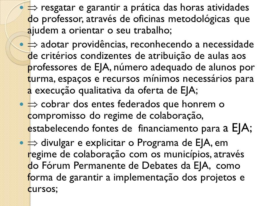 o Garantir formação inicial e continuada que subsidie o educador a dialogar com os jovens; o Fazer com que os IFTs de Mato Grosso participem dos Fóruns Regionais e na política de formação de Professores.