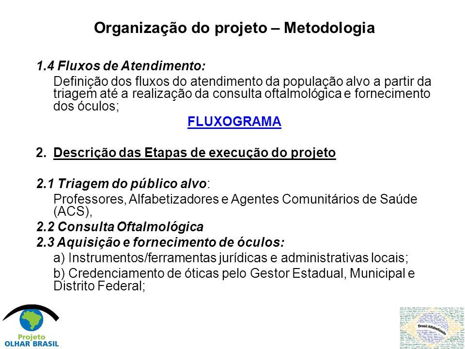 Plano de Ação Emergencial Olhar Brasil - Etapa 2008 No exercício de 2009, será desenvolvida uma estratégia emergencial de implementação das ações do Projeto Olhar Brasil para atendimento exclusivo do público do Programa Brasil Alfabetizado, da região Nordeste e Amazônia Legal.